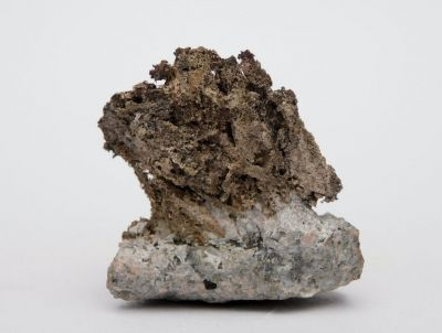 Aurichalcit, limonit - King Exile Mine, Arizona, USA